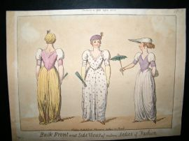 Ackermann (Pub) 1800 Hand Col Regency Fashion Caricature Print